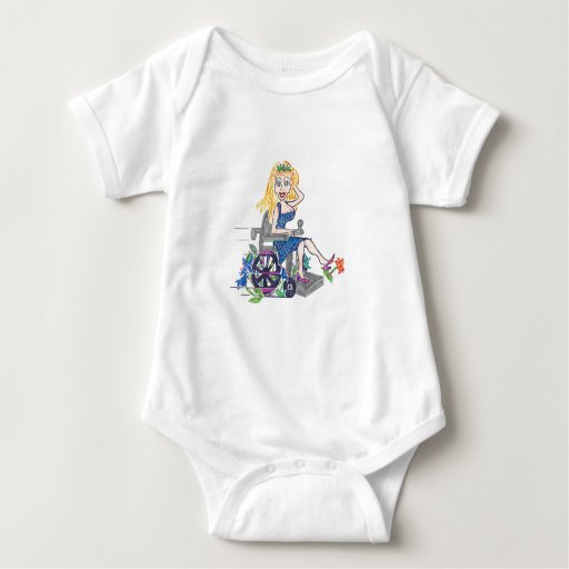 Kick up some Flowers in a wheel-chair Tshirts