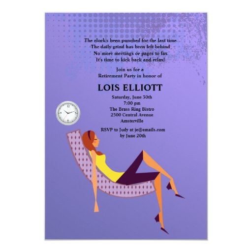 Kick up your Feet Female Retirement Party 5x7 Paper Invitation Card