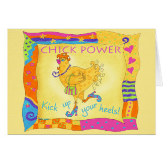 Kick Up Your Heels Chick Power Note Card