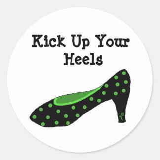 Kick Up Your Heels Classic Round Sticker