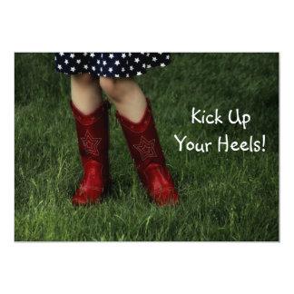 Kick Up Your Heels! 5x7 Paper Invitation Card