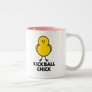 Kickball Chick Two-Tone Coffee Mug