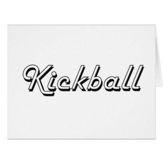 Kickball Classic Retro Design Large Greeting Card