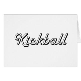 Kickball Classic Retro Design Stationery Note Card