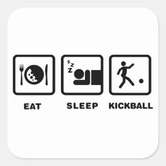 Kickball Calcomanías Cuadradass Personalizadas