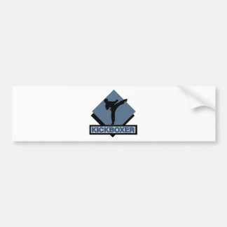 Kickboxer blue diamond car bumper sticker