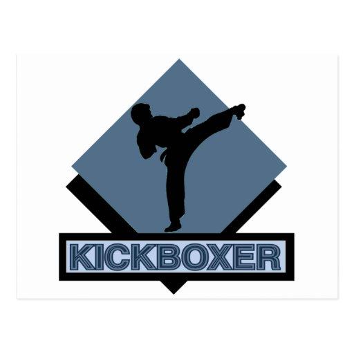Kickboxer blue diamond post cards