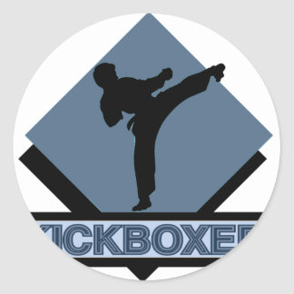 Kickboxer blue diamond sticker