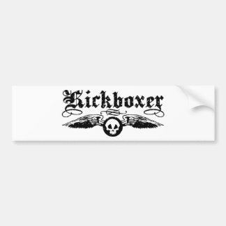 Kickboxer Etiqueta De Parachoque