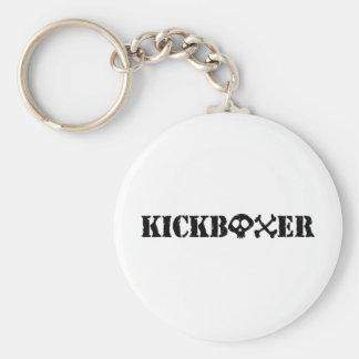 Kickboxer Basic Round Button Keychain