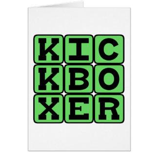 Kickboxer, Martial Arts Fighter Card