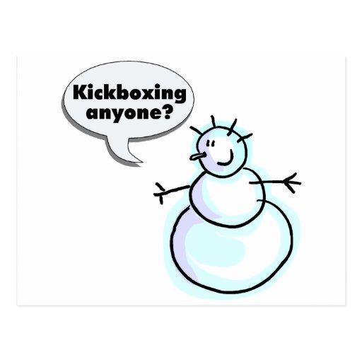 Kickboxing Anyone Postcard