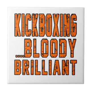kickboxing Bloody brilliant Small Square Tile