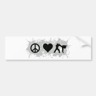 Kickboxing Bumper Sticker