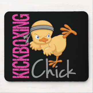 Kickboxing Chick Mouse Pad