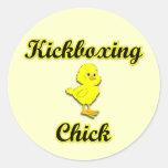 Kickboxing Chick Stickers