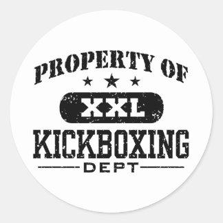 Kickboxing Classic Round Sticker