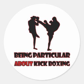 kICKBOXING Designs Round Sticker
