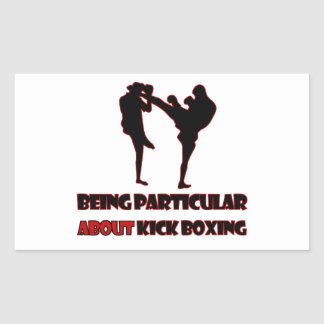 kICKBOXING Designs Rectangle Stickers