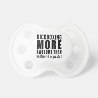 kickboxing más impresionantes que lo que es usted chupete de bebé