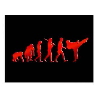 Kickboxing MMA Fitness Mens Athlete Evolution Postcard