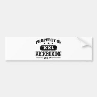 Kickboxing Pegatina Para Auto