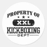 Kickboxing Pegatina Redonda