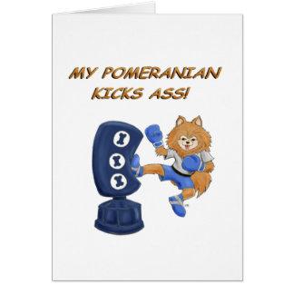 Kickboxing Pomeranian Card