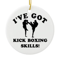 kickboxing skill gift items ceramic ornament