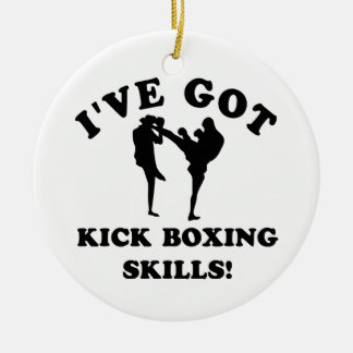 kickboxing skill gift items ceramic ornament