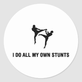 Kickboxing Round Stickers