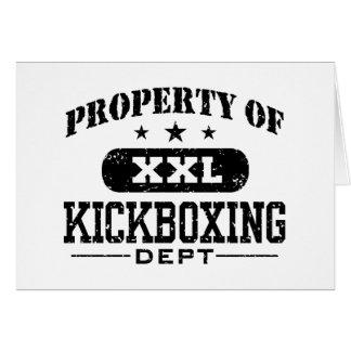 Kickboxing Tarjeta De Felicitación