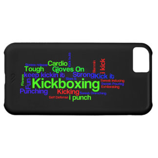 Kickboxing Word Cloud Bright on Black iPhone 5C Cases