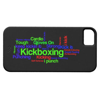 Kickboxing Word Cloud Bright on Black iPhone SE/5/5s Case
