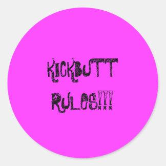 KICKBUTT RULES sticker sheet