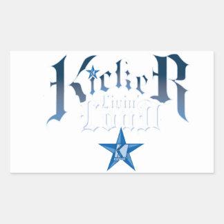Kicker Logo Rectangular Sticker