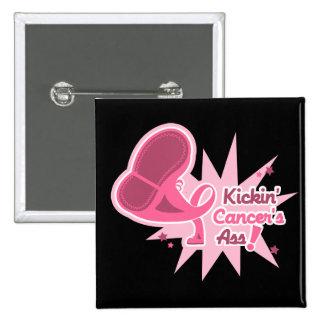 Kickin Cancer's Ass Breast Cancer Pinback Button