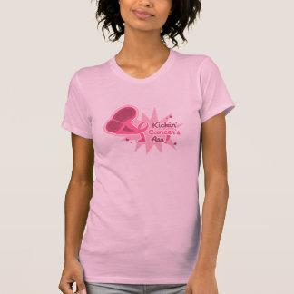 Kickin Cancer's Ass Breast Cancer T-Shirt