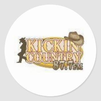 kickin Country Classic Round Sticker