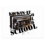 Kickin él escuela vieja tarjeta postal