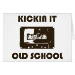 Kickin él escuela vieja tarjetón