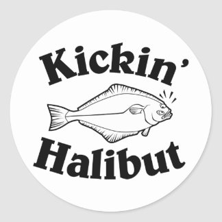 Kickin' Halibut Classic Round Sticker