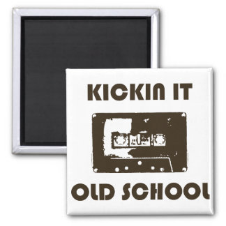 Kickin It Old School 2 Inch Square Magnet