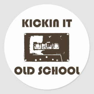 Kickin It Old School Classic Round Sticker