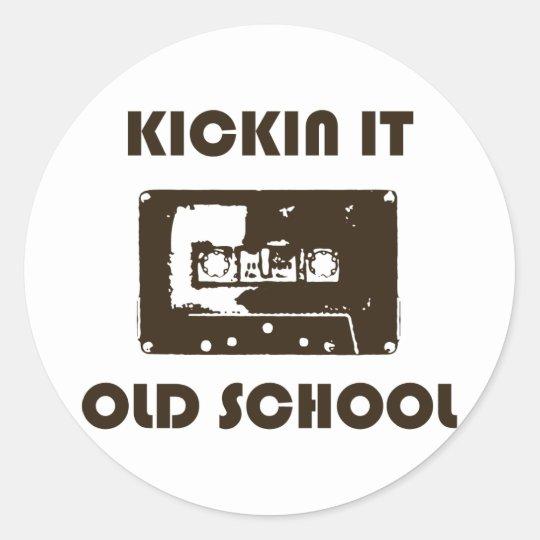 Kickin It Old School Classic Round Sticker