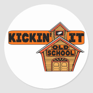 Kickin' It Old School Classic Round Sticker