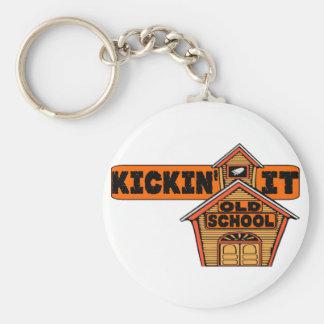 Kickin' It Old School Keychain