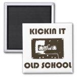 Kickin It Old School Refrigerator Magnets