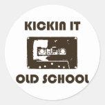 Kickin It Old School Round Stickers