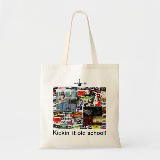 """Kickin' it old school"" tote bag"